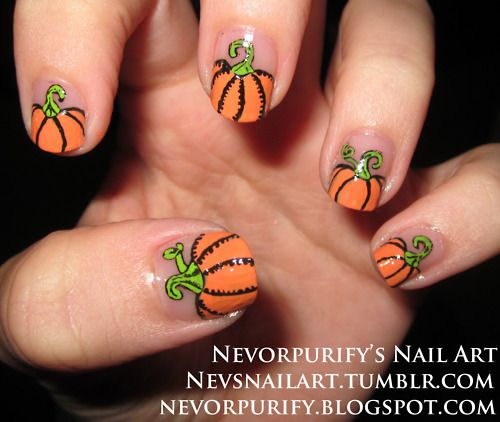 Pumpkin nails nails pinterest pumpkin nail art makeup and pumpkin nails prinsesfo Choice Image