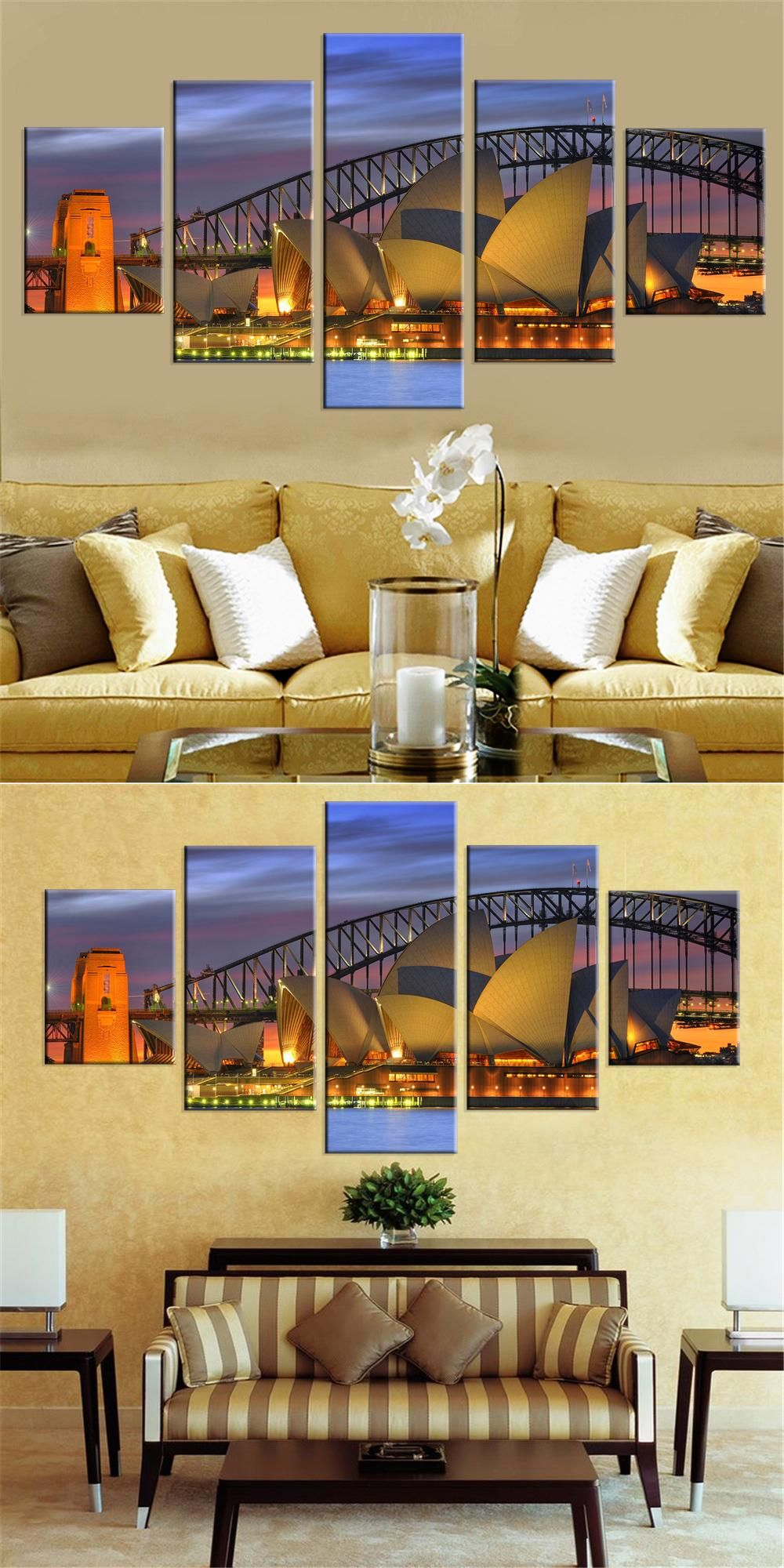 Visit to Buy] Unframed Oil Painting Harbour Bridge Canvas Prints ...