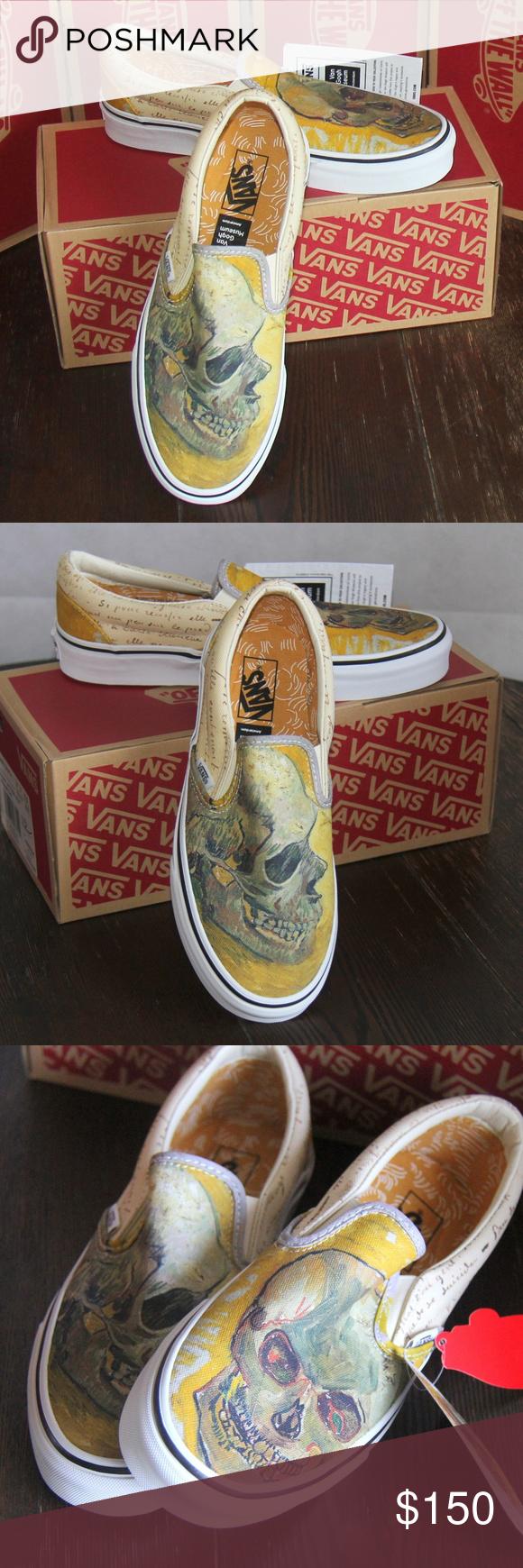 1075af0a42993f VANS X Vincent van Gogh Skull Sneakers M 6.5   W 8 VANS X Vincent van Gogh  Skull Classic Slip On Sneakers