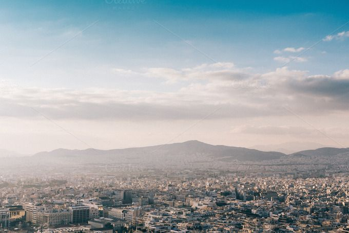 Athens panoramic view  by Walking Blonde on Creative Market