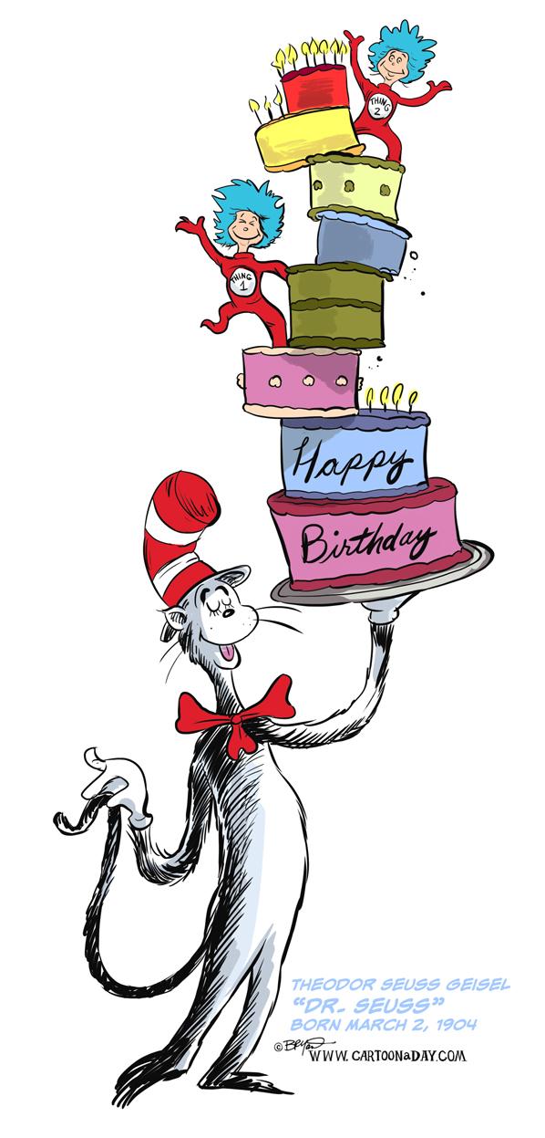 Dr Seuss Birthday Cartoon 598 Birthday Cartoon Seuss Happy Birthday