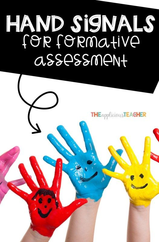 Hand Signals for Quick Formative Assessment Formative assessment