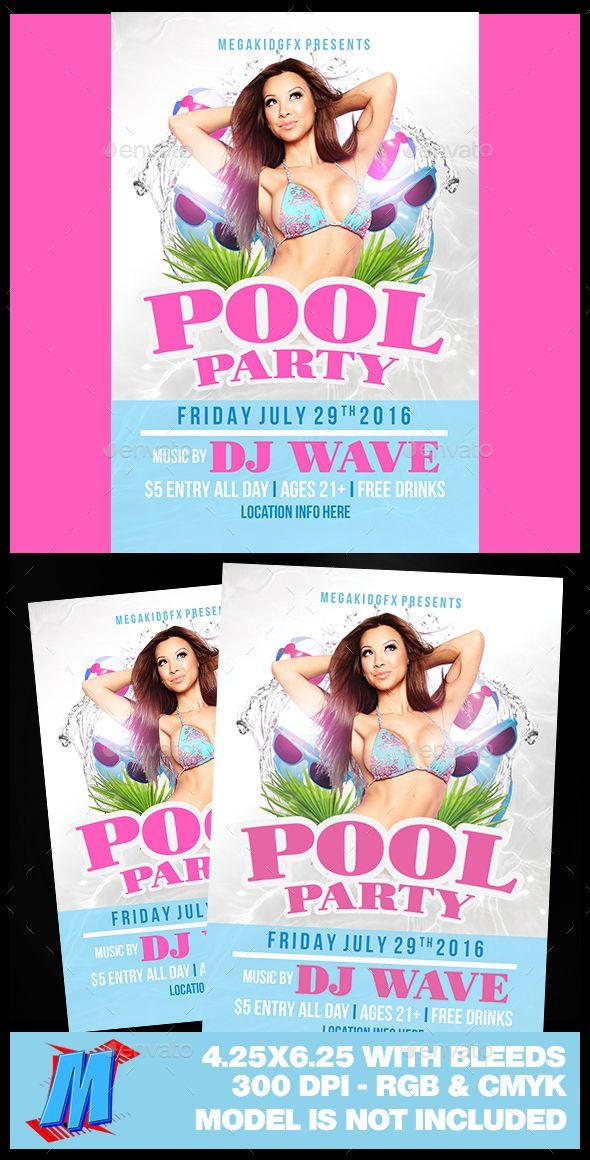 Pool Party Flyer Template - pool party flyer template