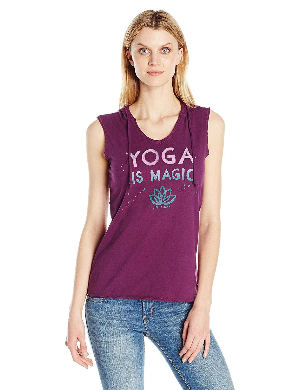 e2bba103 Women's Yoga Magic Sleeveless Hoodie - Deep Plum - CP12KNIUNJ3,Women's  Clothing, Active, Active Hoodies #women #fashion #clothing #style #sexy  #outfits .