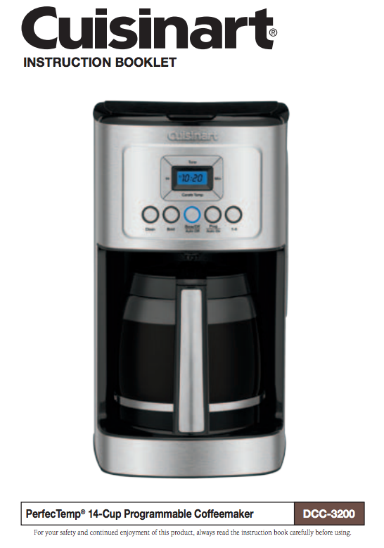 14 Cup Programmable Coffeemaker Dcc 3200dcc 3200w Product