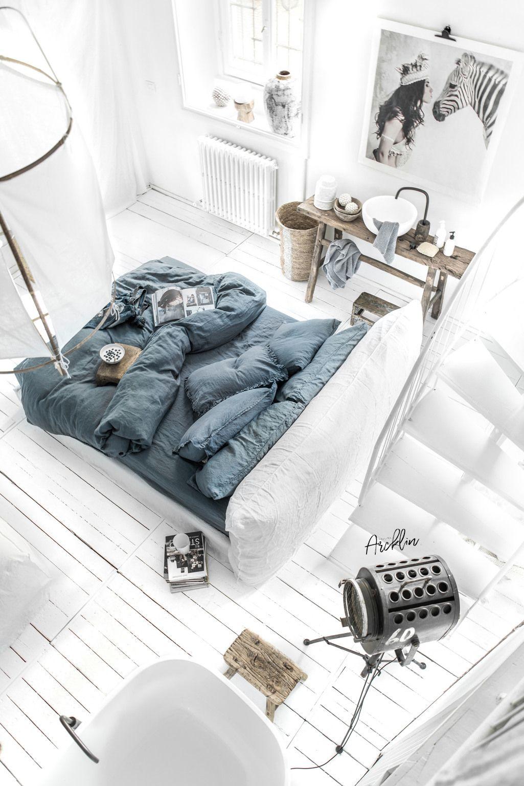 Skandinavisch Wohnen, Betten, Schlicht, Innenarchitektur, Inneneinrichtung,  Stempel, Einrichten Und Wohnen, Schlafzimmer, Gestalten
