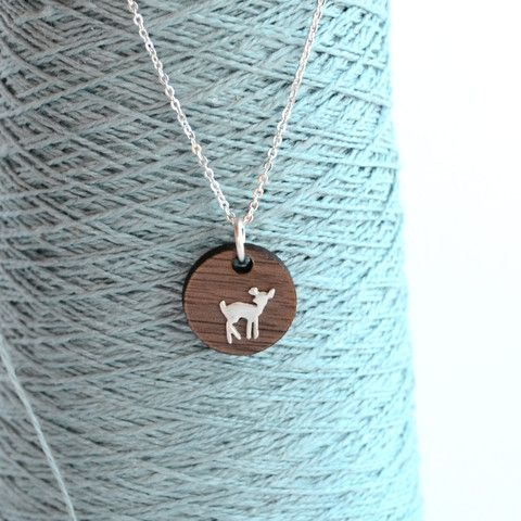 Walnut & Sterling Fawn Necklace | Figs and Ginger