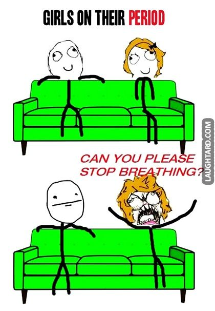 Girls on their period #lol #funny, #haha, #funnypics, #laughtard #funnycartoons