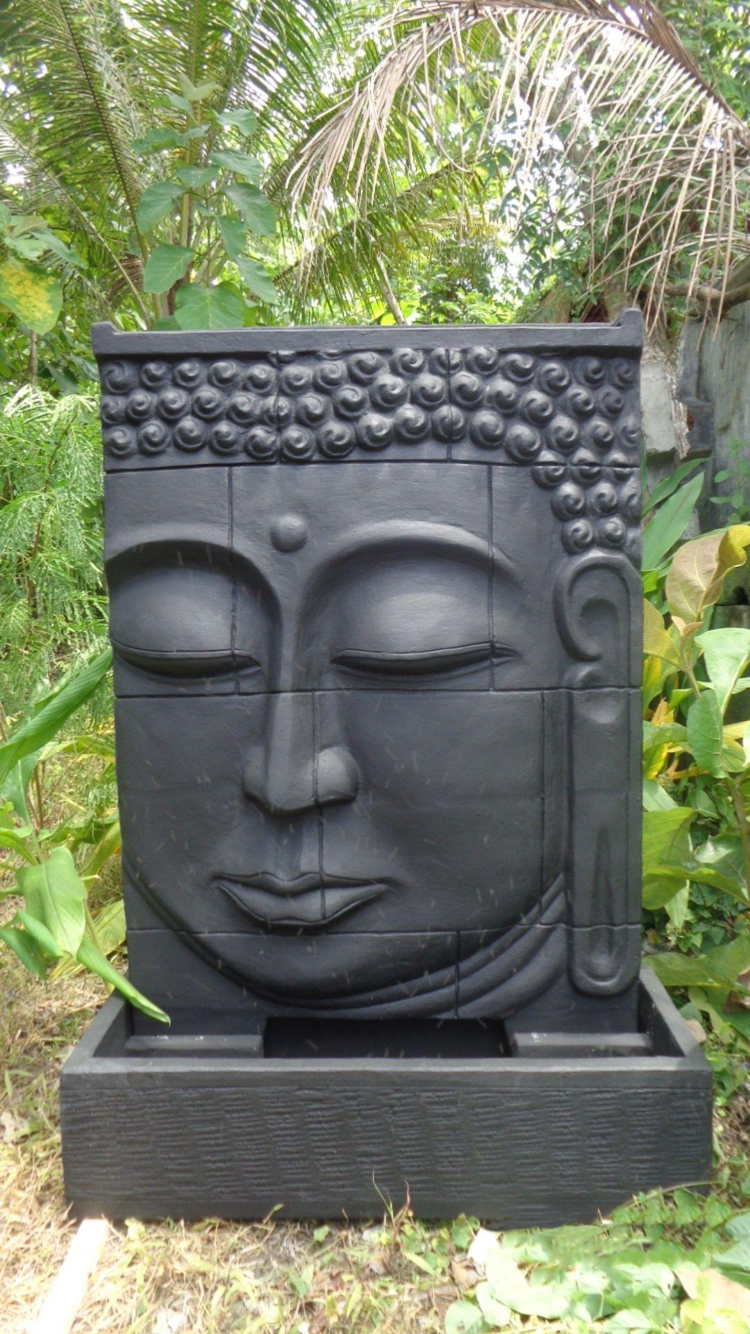 grande fontaine ext rieur mur d 39 eau visage de bouddha 1 m. Black Bedroom Furniture Sets. Home Design Ideas