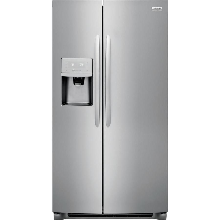 Frigidaire gallery cu ft sidebyside refrigerator with ice