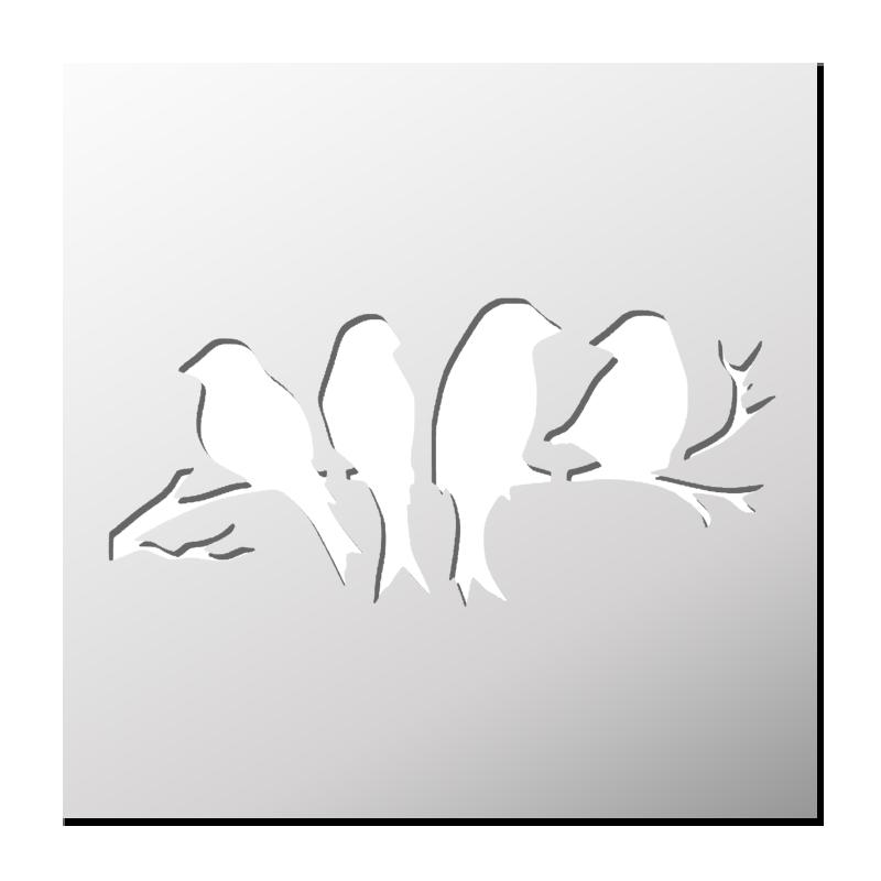 Pochoir Oiseaux Pochoir Oiseau Pochoirs Gratuits Pochoir Pour Animaux