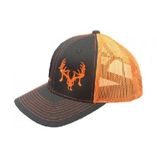 Texas Trophy Hunters Assoc. Grey and Orange Snap back Cap