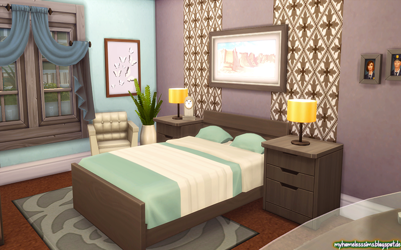 Homeless Sims The Sims 4 Family Charm No Cc Sims 4 House Design Sims House Design Sims House