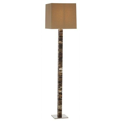 Fonda Faux Horn / Steel Floor Lamp