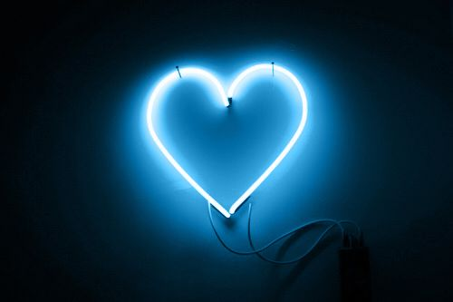 not my photo just my blue source  #blue #aesthetic #neon #heart