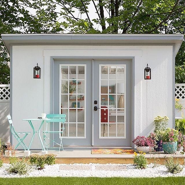 "Photo of Lowe's Home Improvement on Instagram: ""Get away from it all – right in your own backyard! Click the link in profile to find your personal style and create your own She Shed.…"""