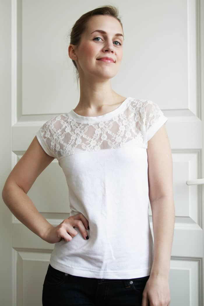 DIY Romantic Lace T-Shirt #romanticlace