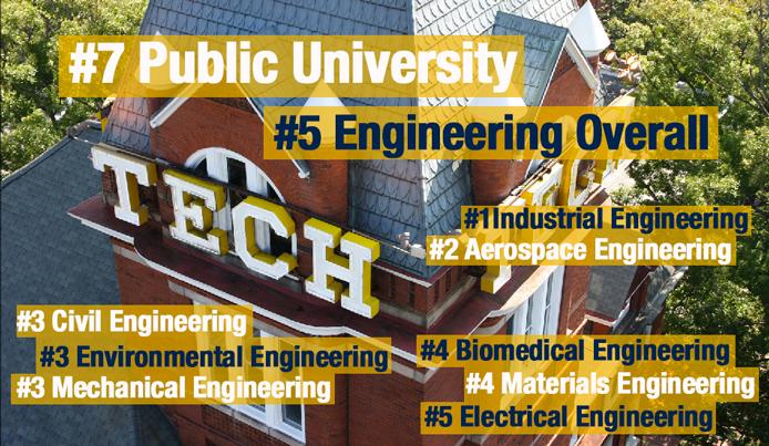 2013 Us News World Report Rankings Place Georgia Tech 7 Among