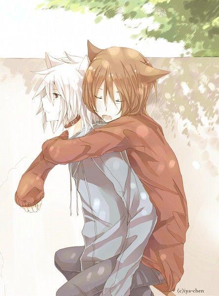 Anime Neko Boy With White Hair Google Search Anime Neko Anime Anime Boy