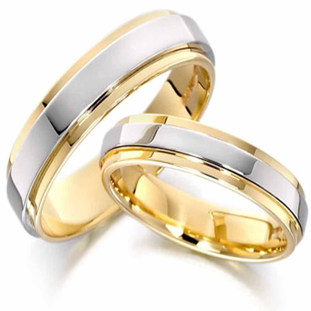 Gold And Silver Wedding Bands Couple Wedding Rings Wedding Ring Designs Mens Wedding Rings
