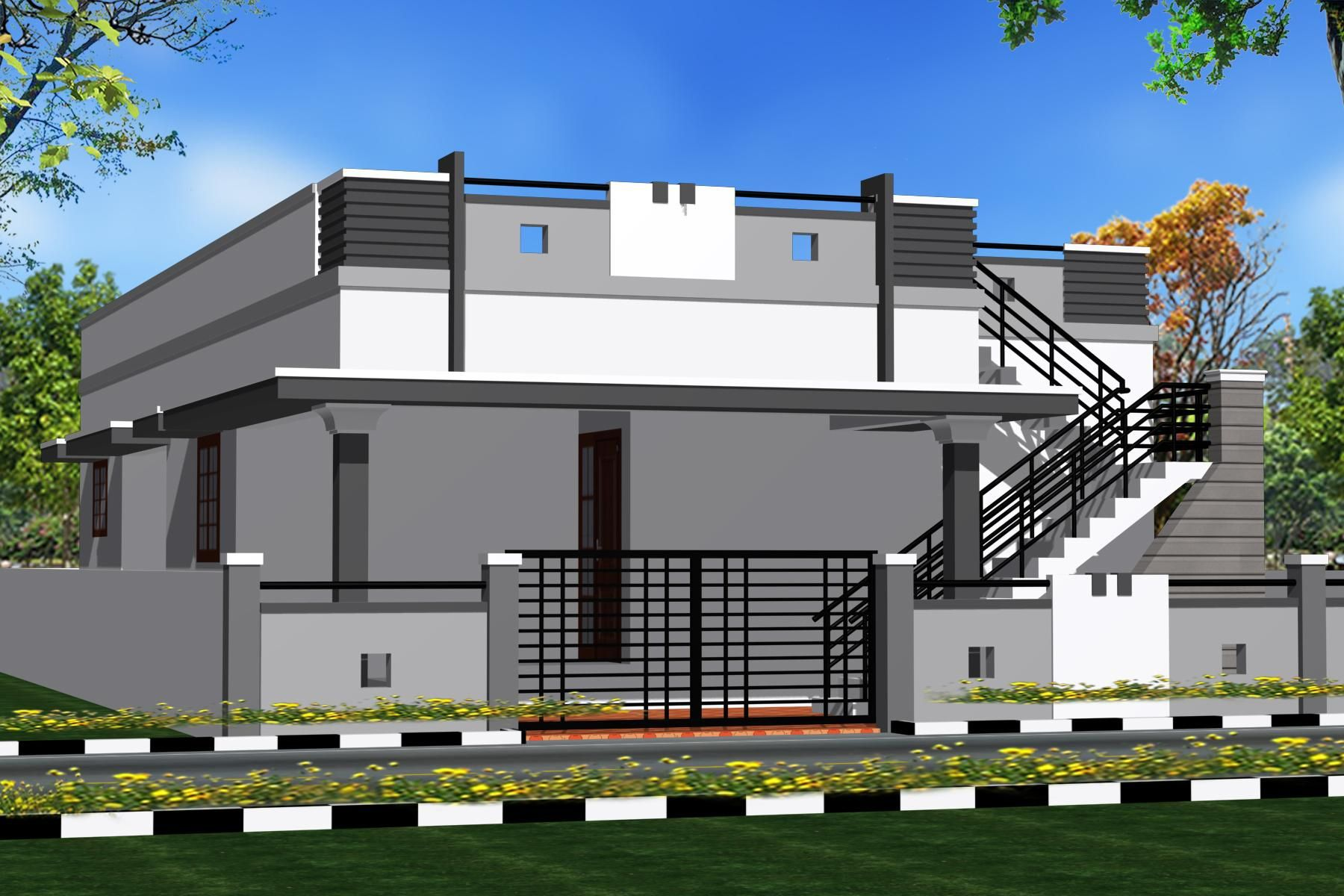 House · latest compound wall designs