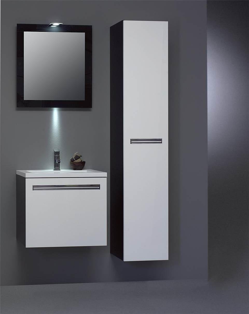 Modern badkamer meubel met bijpassende hoge kast, dit badkamer ...