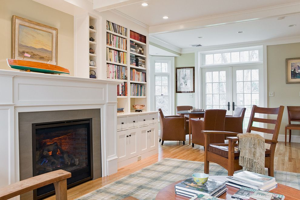 Fair Built In Bookcases Around Fireplace Decorating Ideas in Living