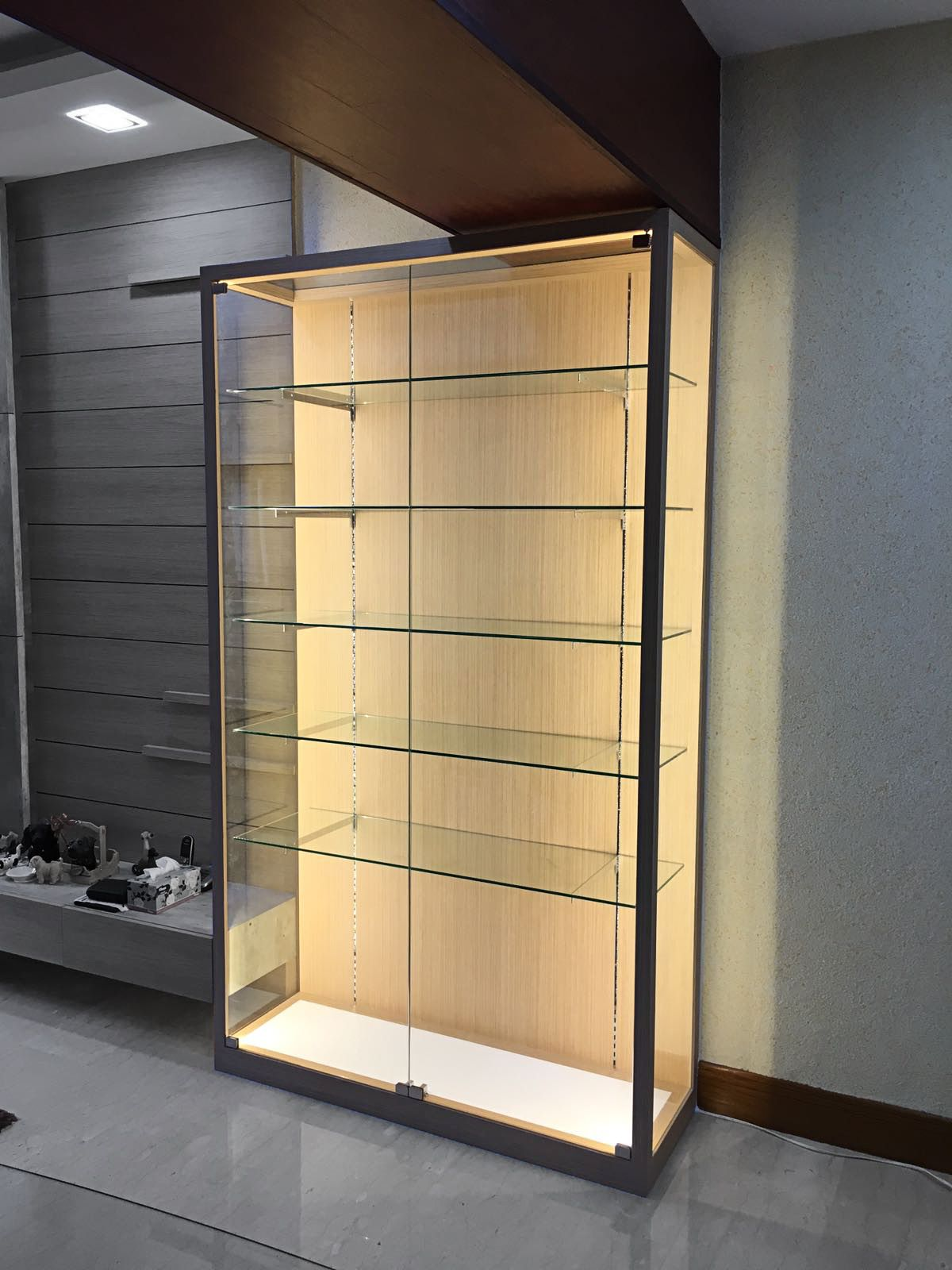 Glass Display Cabinet Home Custom Display Cabinet By Chezrich Glass