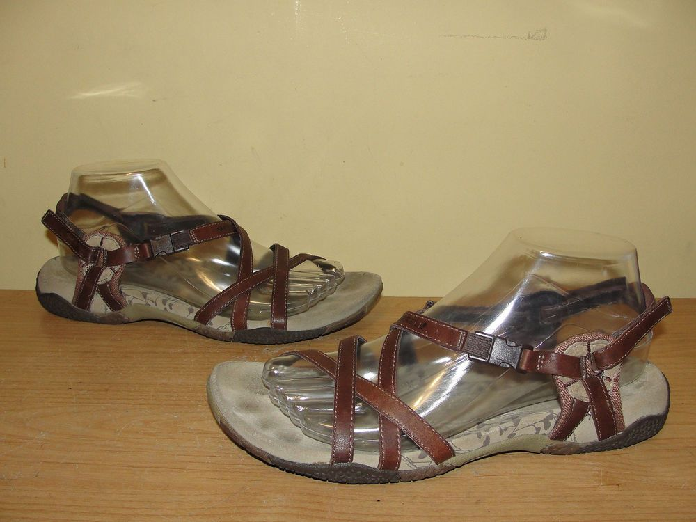 d37037d70d7a Merrell Women s Shoes San Remo Brown Strappy Leather Sport Sandals Size 8   Merrell  SportSandals  Casual