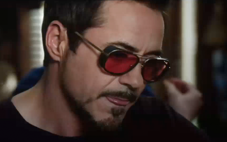 Robert Downey Jr. MATSUDA M3023 Sunglasses Custom Red Lenses