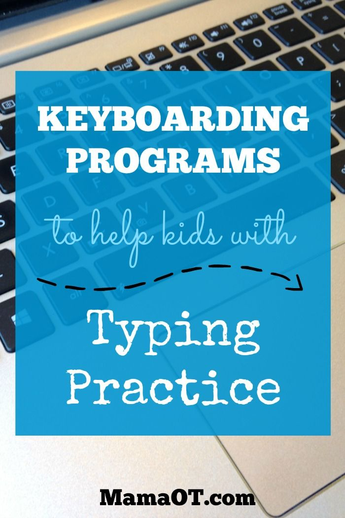 Great list of keyboarding programs to help kids with typing practice