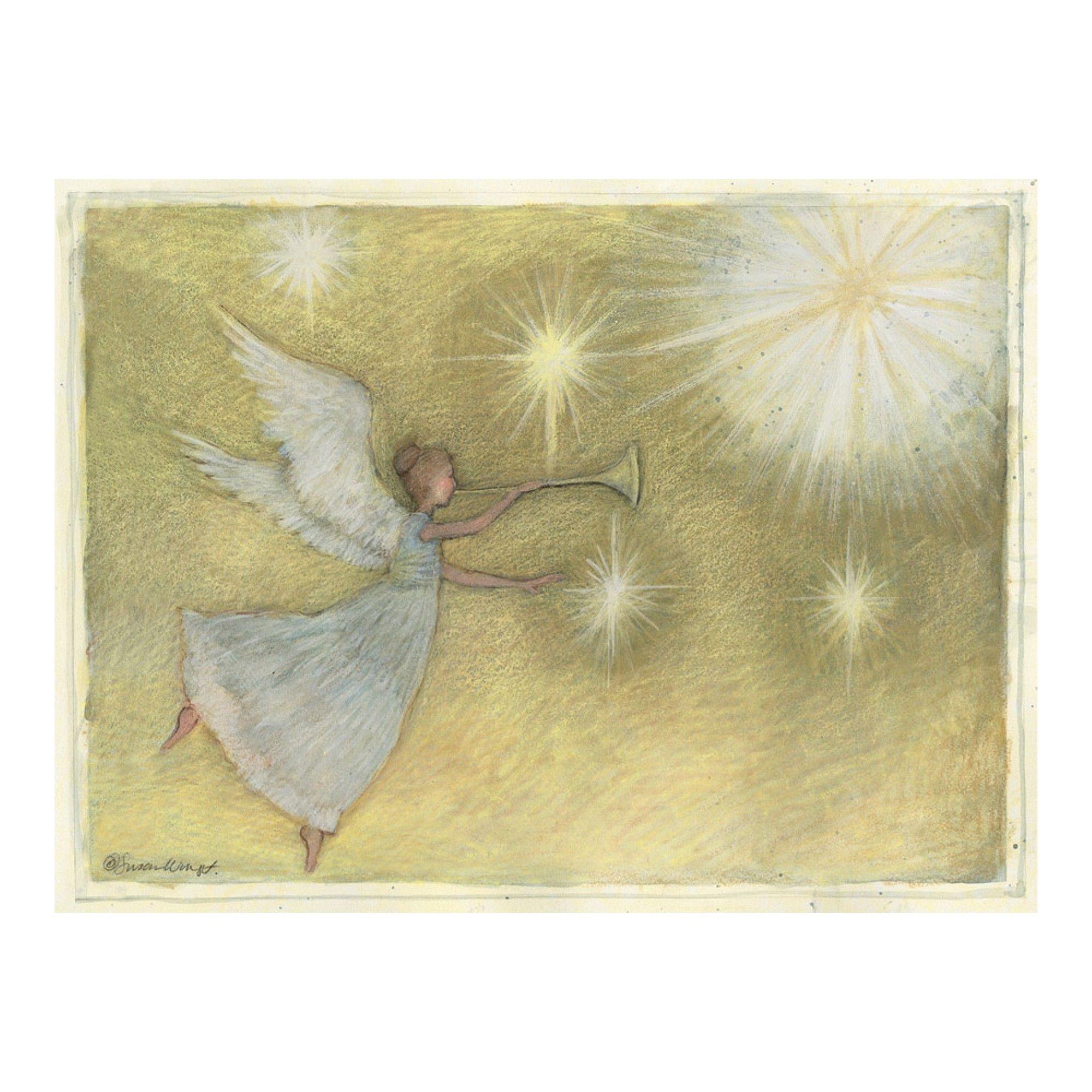 12ct Golden Angel Holiday Boxed Cards Diy christmas