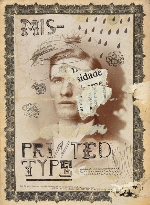 Misprinted Type - A gallery-quality illustration art print by Eduardo Recife for sale.
