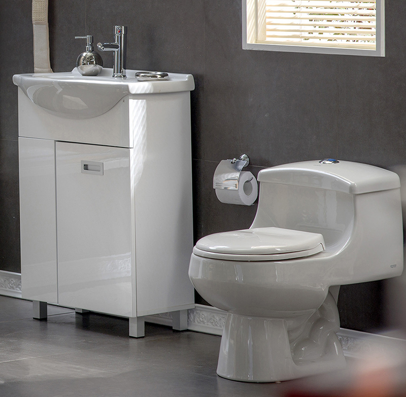 Corona wc one piece montecarlo redondo blanco dise o for Duchas de bano homecenter