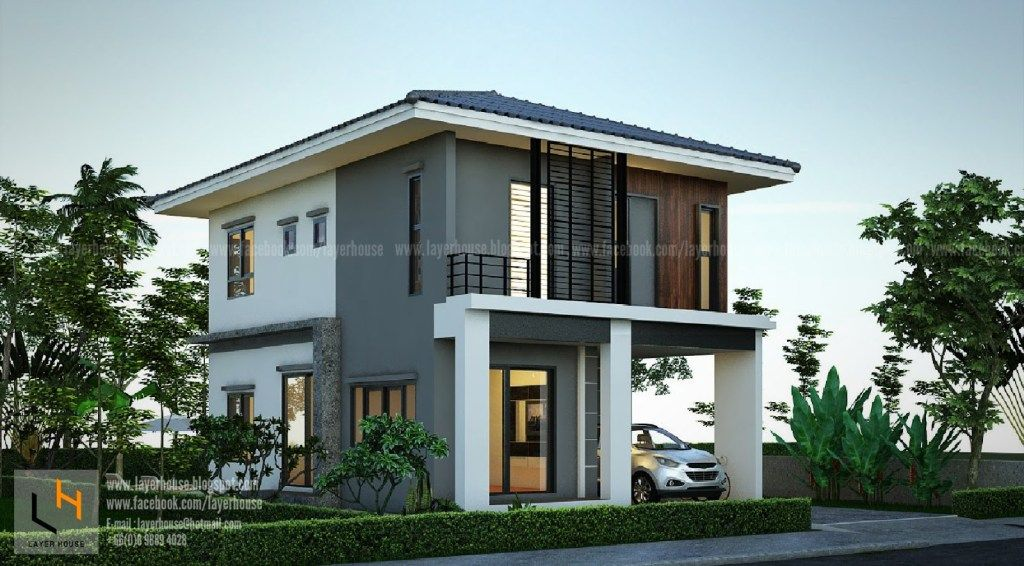 House Plans Idea 7x11 M With 4 Bedrooms Samhouseplans In 2020 House Plans Modern House Plans House Exterior