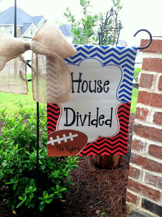 Attrayant Custom Personalized Yard Sign House Divided Chevron YOU PICK TEAM On Etsy,  $25.00....Need An Alabama/Michigan State One