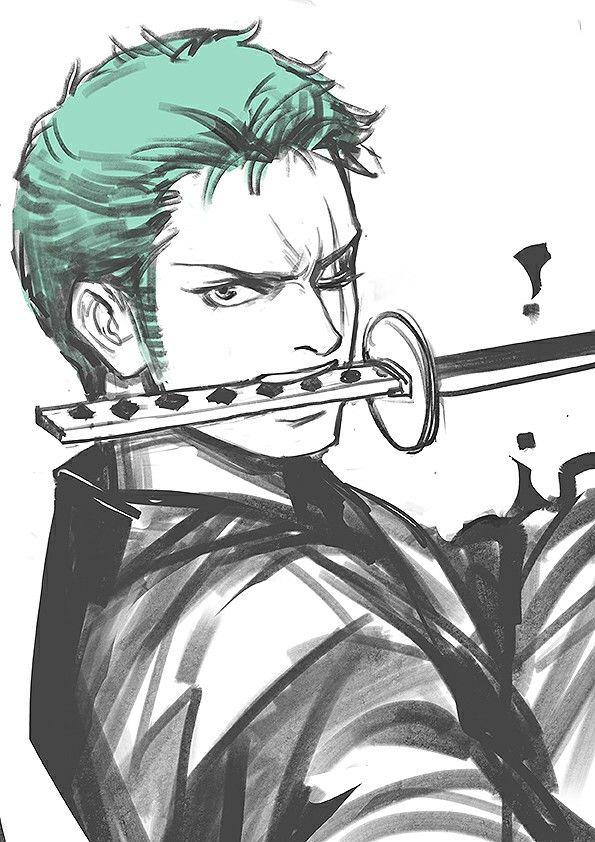 Roronoa Zoro Il Est Trop Cool Coloriage Manga Fond D Ecran Dessin Anime One Piece
