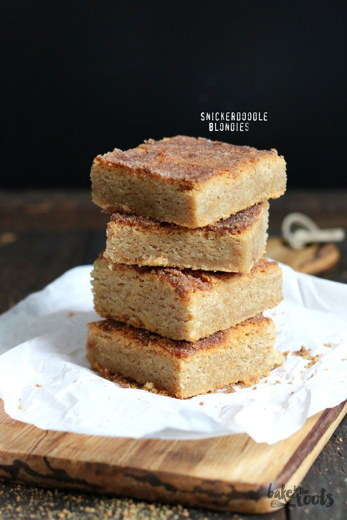 Einfache Snickerdoodle Blondies | Bake to the roots