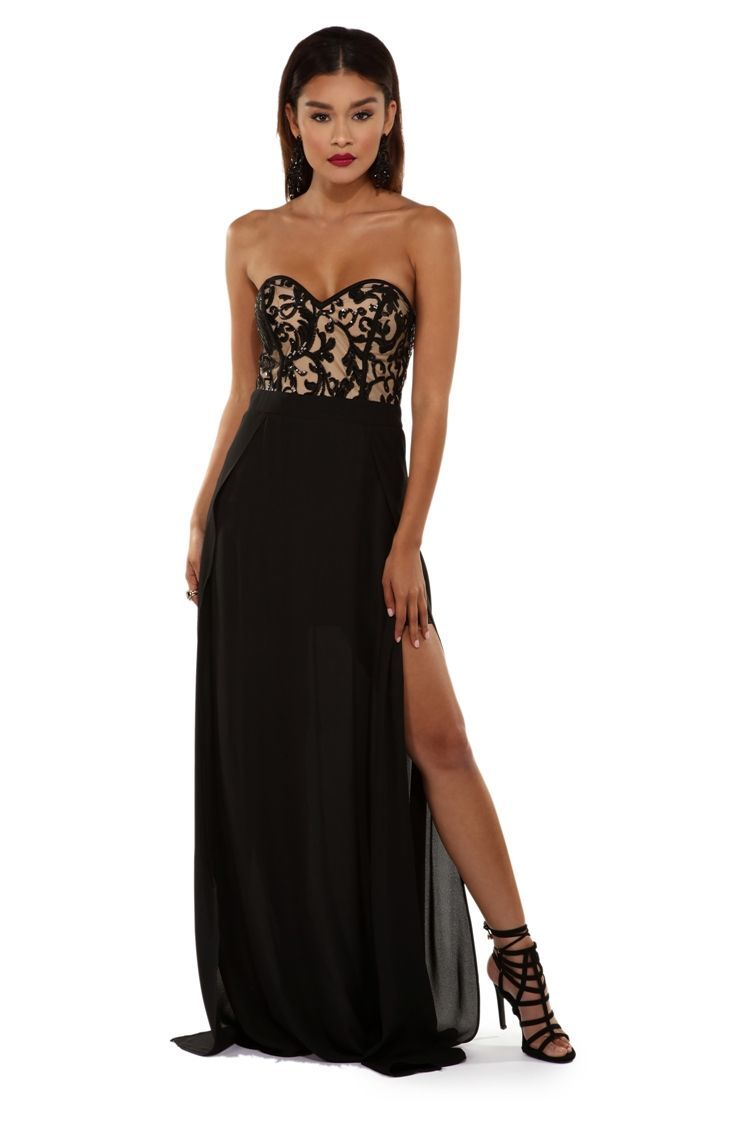 Irene black night sequin gown prom ideas sequins and gowns