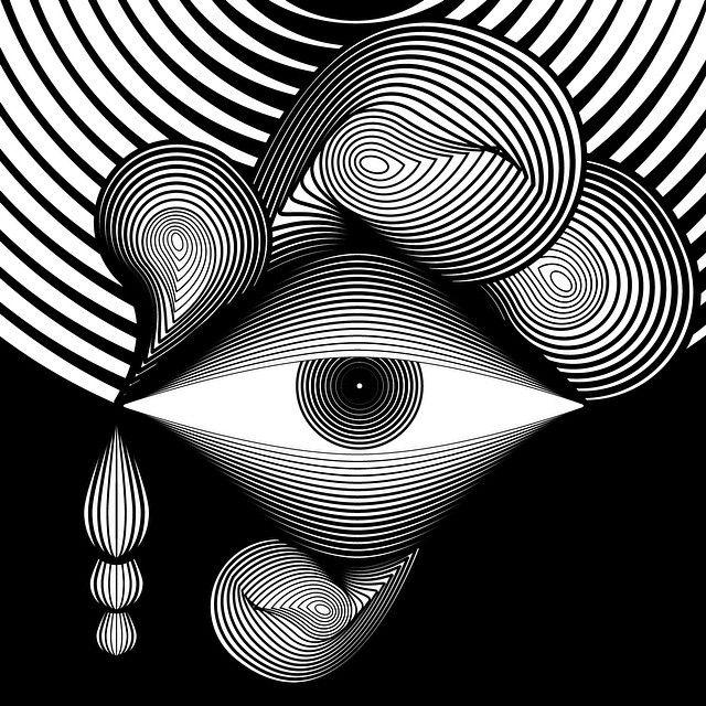 Ojo Abstracto Lineal Ilustracion Digital Dibujos Abstractos Abstracto Simbolos Antiguos
