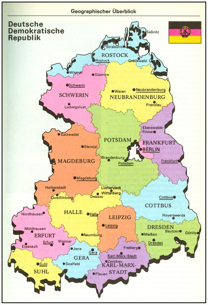 Ddr East Germany Map Historical Maps
