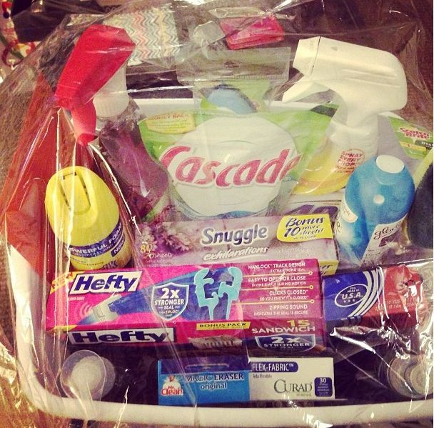 Housewarming Gift Basket In A Laundry This Would Also Make Great Wedding Shower