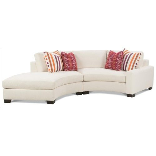 Rowe Fenwick Contemporary Two Piece Curved Sectional Sofa
