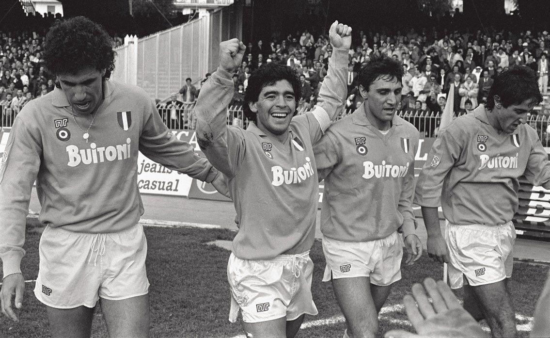 #SSCNapoli: #AntônioCareca #DiegoMaradona  #BrunoGiordano and #FernandoDeNapoli.   #Careca #Maradona #Giordano #DeNapoli #SerieA #Italy