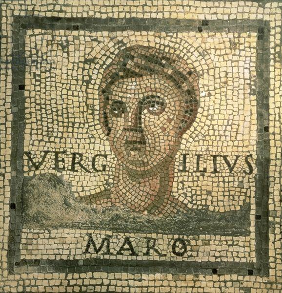 Virgil (70-19 BC) (mosaic), Roman, (3rd century AD) / Museo della Civilta Romana, Rome, Italy / The Bridgeman Art Library