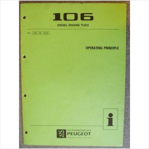 Peugeot 106 Tud3 Operating Principle Manual 1992 329