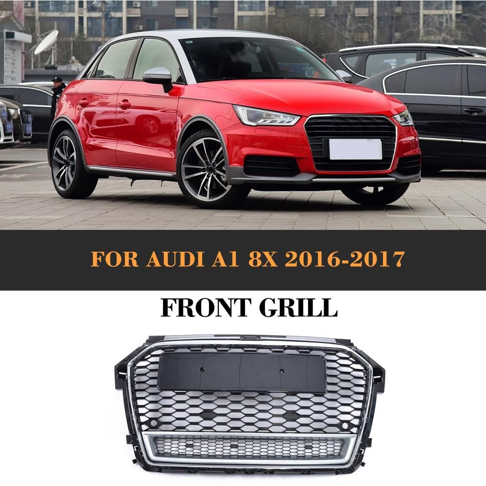 Rs1 Honeycomb Quattro Style Front Bumper Grille Grill For Audi A1