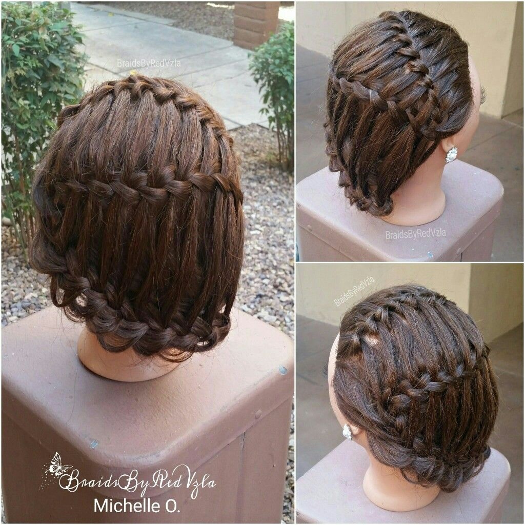 Waterfall braid braidsbyredvzla pinterest