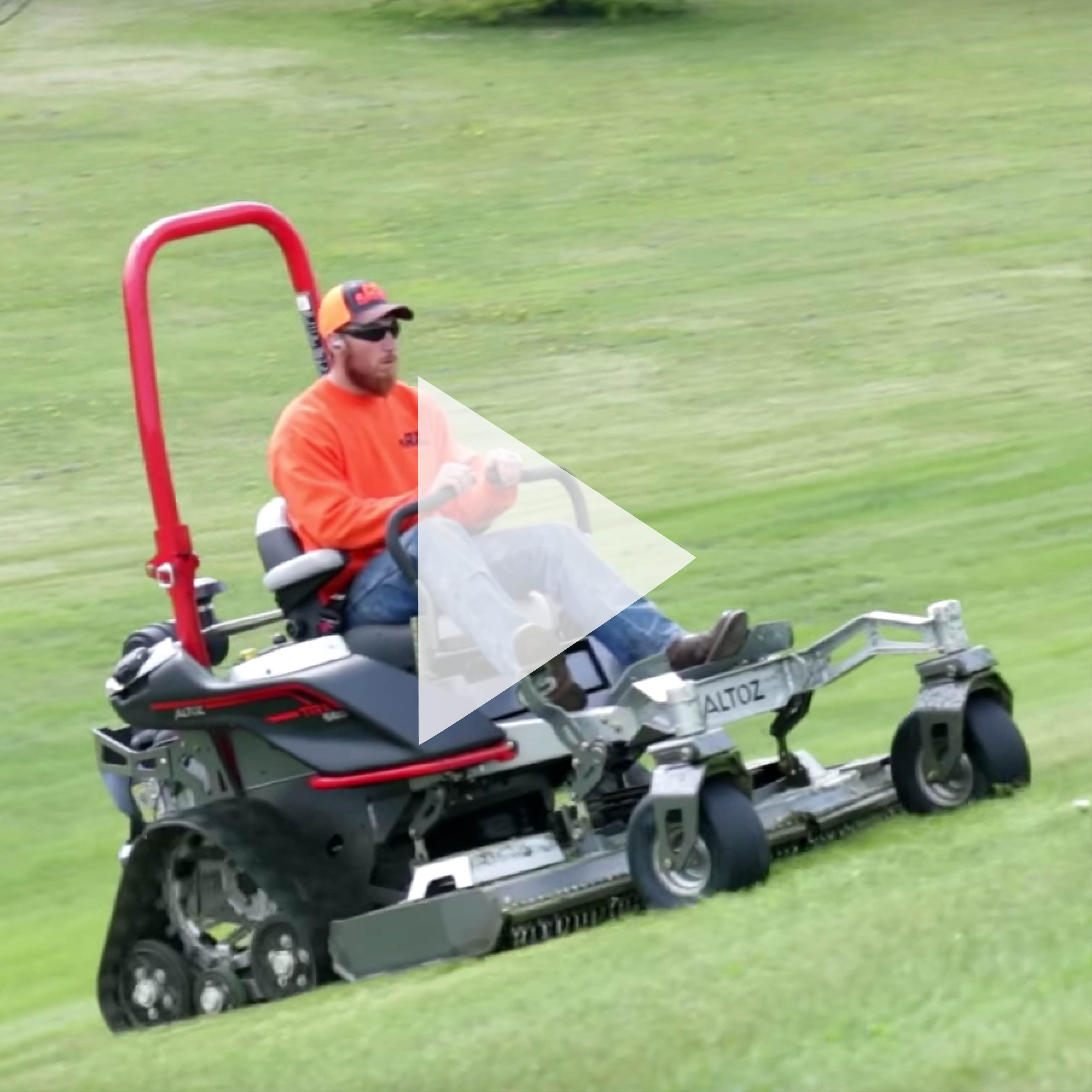 The Altoz Trx Zero Turn Mower Has Agility Stability And Versatility Perfect For Large Commercial Jobs Zero Turn Mowers Mower Turn Ons