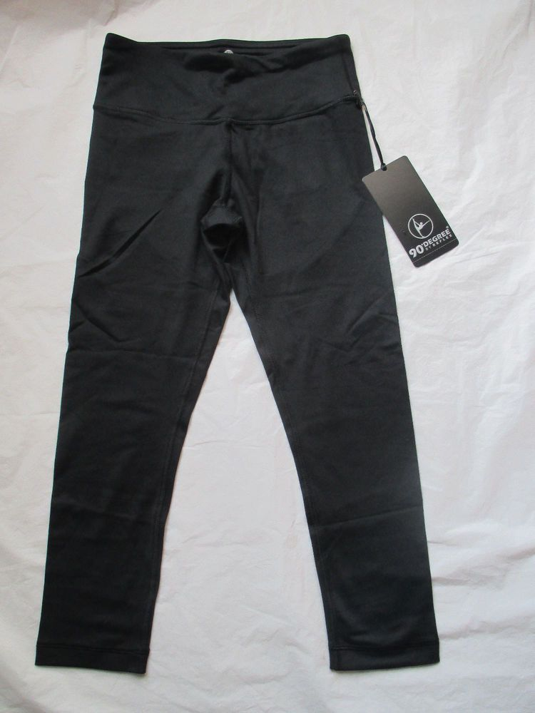 53f7f4dfd6 Leggings Capri 90 Degree By Reflex Black Style CW5424 Legging Brand New  Tags #90DegreebyReflex #Capri